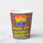 [ Thumbnail: 11th Birthday: Fun Graffiti-Inspired Rainbow 11 ]