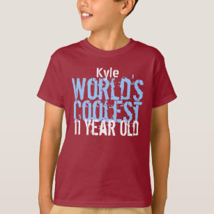 11th Birthday Gift Worlds Coolest 11 Year Old T Shirt