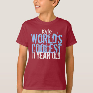 11th Birthday Gift World's Coolest 11 Year Old T-Shirt
