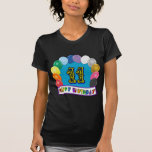 11th Birthday Gifts with Assorted Balloons Design Tees