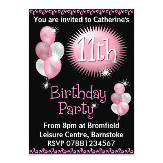 11th Birthday Invitations Announcements Zazzle