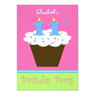 11 years birthday invitations zazzle