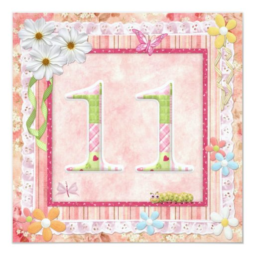 11th birthday party scrapbooking style card