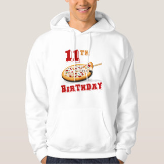 11th Birthday Pizza party Hooded Sweatshirt