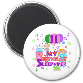 11th Birthday Sleepover Magnet