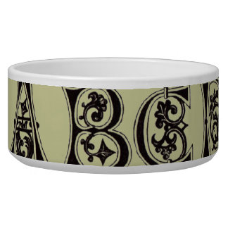 11th Century Alphabet Pet Bowl