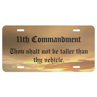 11th Commandment License Plate