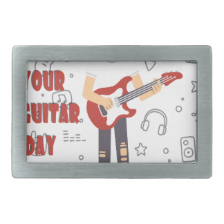 11th February - Get Out Your Guitar Day Belt Buckle