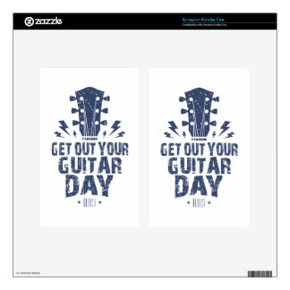 11th February - Get Out Your Guitar Day Kindle Fire Skin