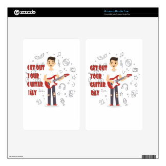 11th February - Get Out Your Guitar Day Skins For Kindle Fire