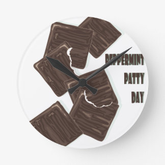 11th February - Peppermint Patty Day Round Clock