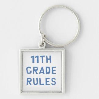 11th Grade Rules Silver-Colored Square Keychain