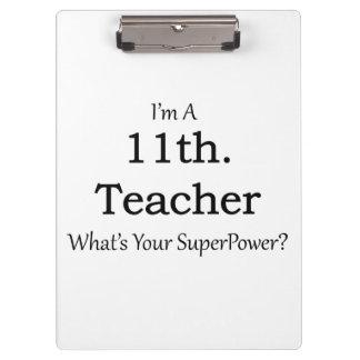 11th. Grade Teacher Clipboard