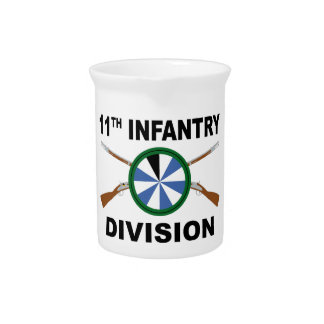 11th Infantry Division - Crossed Rifles Drink Pitcher