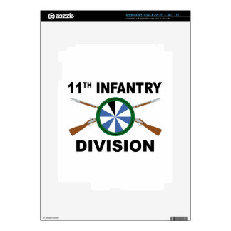 11th Infantry Division - Crossed Rifles Decals For iPad 3