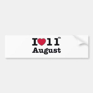 11th july birthday design bumper sticker