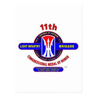 11TH LIGHT INFANTRY BRIGADE VIETNAM POSTCARD