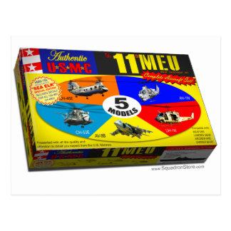 11th MEU Aircraft Model Box Postcard