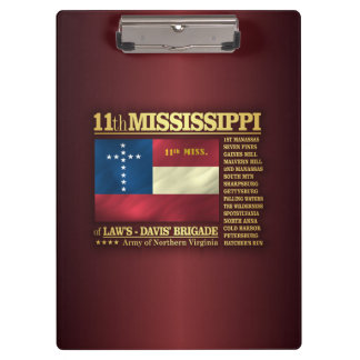 11th Mississippi Infantry (BA2) Clipboard
