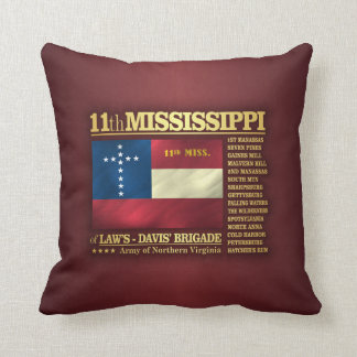 11th Mississippi Infantry (BA2) Throw Pillow