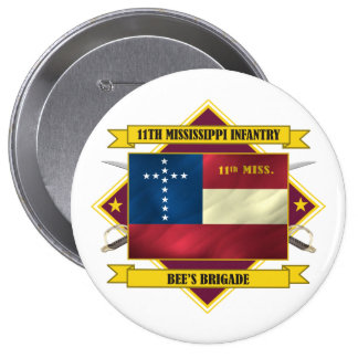 11th Mississippi Infantry Pinback Button