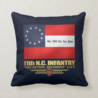 11th North Carolina Infantry Throw Pillow