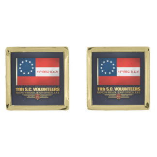 11th South Carolina Volunteer Infantry Gold Cufflinks