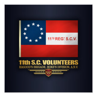 11th South Carolina Volunteer Infantry Poster