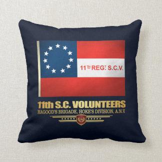 11th South Carolina Volunteer Infantry Throw Pillow