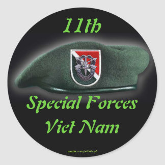 11th Special forces Green Berets flash nam Sticker