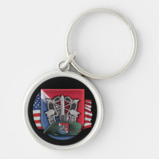 11th special forces group green berets Keychain