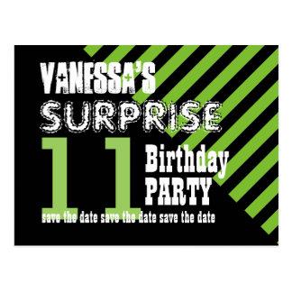 11th TWEEN Surprise Birthday Save the Date T11B Postcard