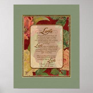 11x14 Anniversary, Love Chapter 1 Corinthians 13 Print
