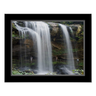 11x14 Dry Falls Waterfall in North Carolina Posters