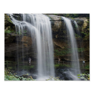 11x14 Dry Falls Waterfall in North Carolina Poster
