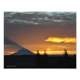 11X14 el Monte Rainier y su sombra Fotografías