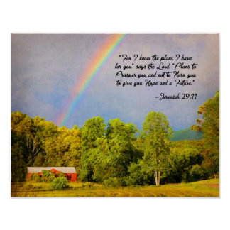 11x14 Print -Jeremiah 29:11...For I know the plans