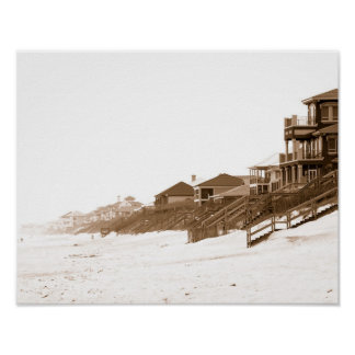 11x14 Sephia Print Of Florida Beach