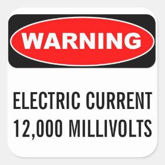 12000 MV Warning Sticker