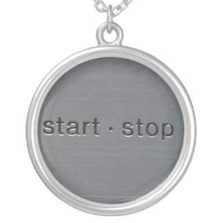 1200 start stop silver plated necklace