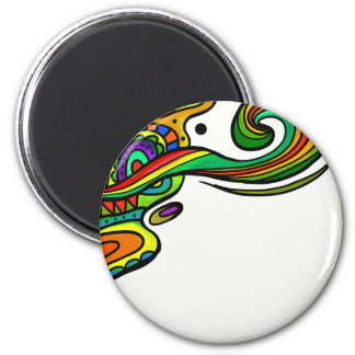 1203 COLORFUL DOODLE SWIRLS HEARTS CARTOON BACKGRO MAGNET