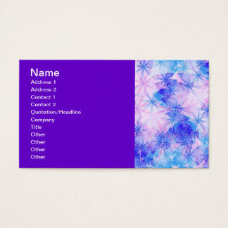 120406 SPARKLES BLUES PINKS WHITES SNOWFLAKES RAND BUSINESS CARD