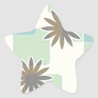120506 SWANKY FLOWERS SQUARES PATTERN SHAPES 70S F STAR STICKER
