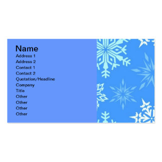 120606-snowflakes-light LIGHT BLUE WHITE SNOWFLAKE Business Card Templates