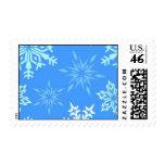 120606-snowflakes-light LIGHT BLUE WHITE SNOWFLAKE Postage Stamp
