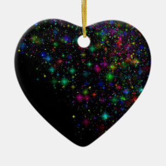 12065 BLACK SPACE COLORFUL STARS BACKGROUNDS WALLP CERAMIC ORNAMENT