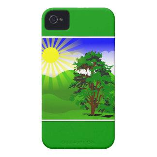 12096724411237573226Peileppe_spring.svg nature vec iPhone 4 Case