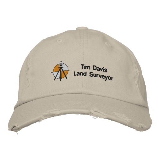 120971495649248493, Tim DavisLand Surveyor Embroidered Baseball Caps