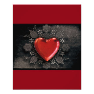 1209 DARK RED BLACK HEART EMO LOVE TOUGH DARK SYMB FLYER