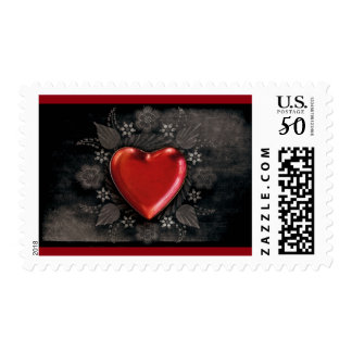1209 DARK RED BLACK HEART EMO LOVE TOUGH DARK SYMB POSTAGE